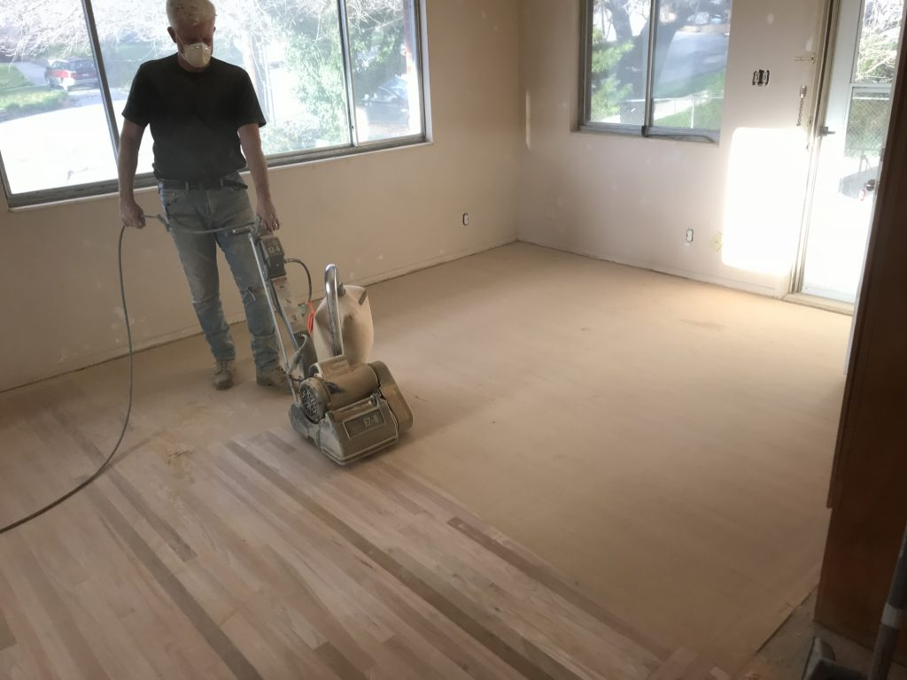 sanding hardwood floors before refinishing