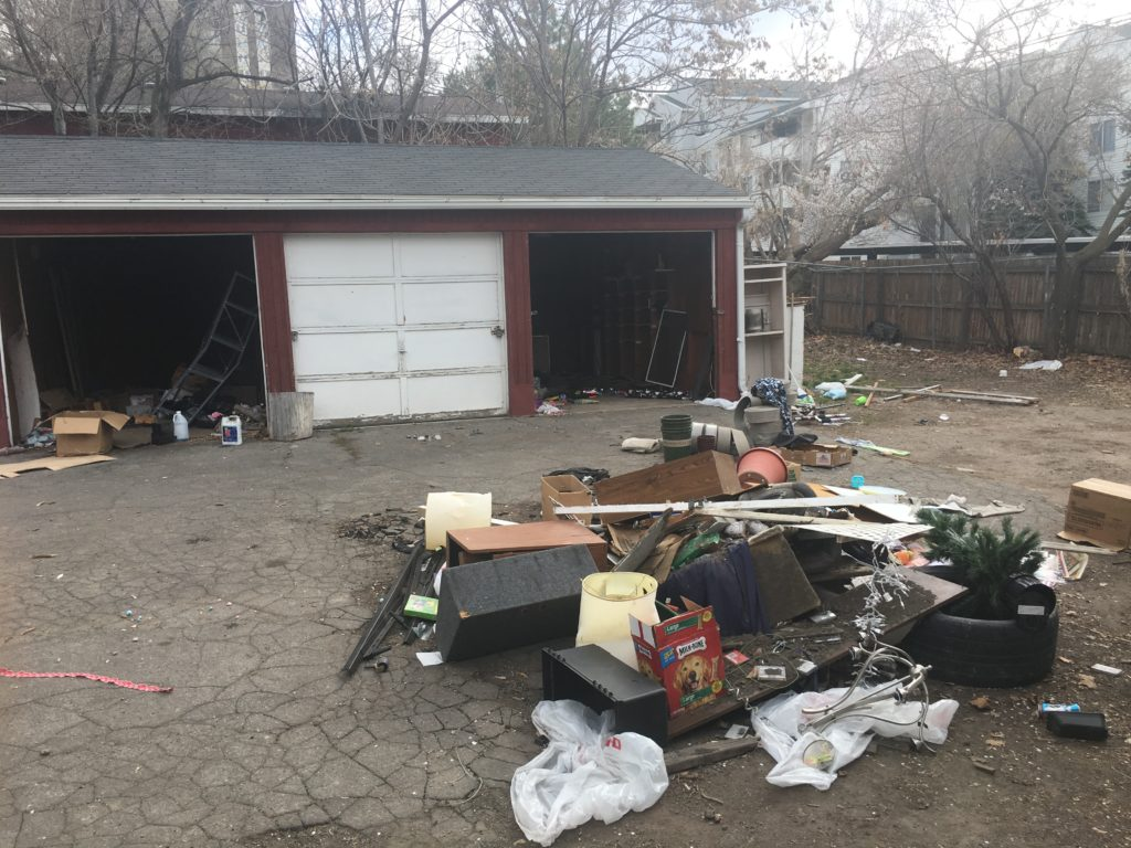 Trash cleanup for investment apartment building
