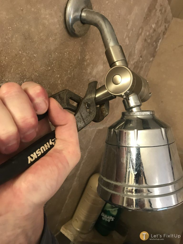 removing old shower head