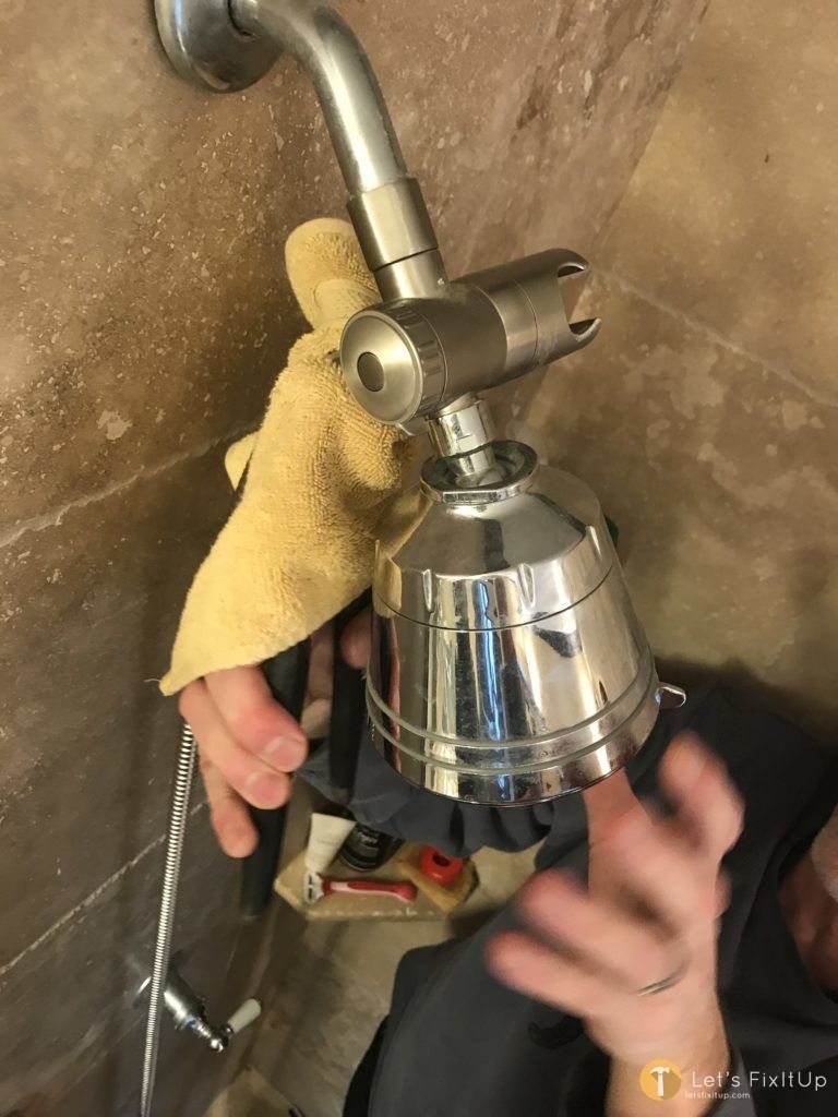 installing new shower head