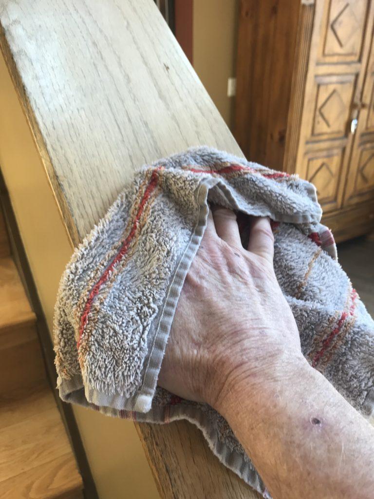 Disinfecting Handrails & Doorknobs