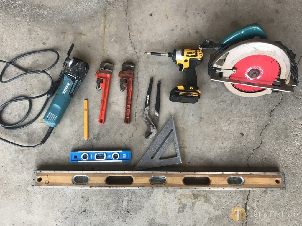 Tools needed to build shelves